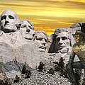 President Reagan At Mount Rushmore by Thomas Woolworth