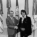 President Richard Nixon And Elvis by Everett