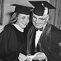 President Truman And Daughter by Underwood Archives