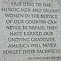 President Truman's Dedication To World War Two Vets by Hugh Carino