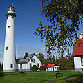 Presque Isle Mi Lighthouse 4 by John Brueske