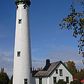 Presque Isle Mi Lighthouse 5 by John Brueske
