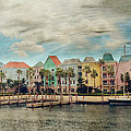 Pretty Houses All In A Row Nassau by Kathy Jennings