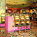 Pretty In Pink Bar Stools And Slots Reserved For Spring Break High Rollers   by Carole Spandau