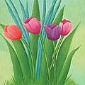 Pretty Tulips by Kathy Kirkbride