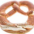 Pretzel Isolated On White by Handmade Pictures