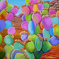 Prickly Pear Cactus-eye Candy by Carol Sabo