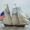 Pride Of Baltimore II Passing By Fort Mchenry by Mark Dodd