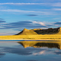 Priest Butte Reflects Into Wetlands by Chuck Haney