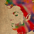 Prince Watercolor Portrait On Worn Distressed Canvas by Design Turnpike