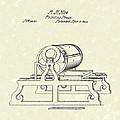 Printing Press 1844 Patent Art by Prior Art Design