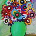 Prisarts Florals IIi by Pristine Cartera Turkus