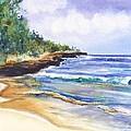Pristine Mahaulepu Beach by Marionette Taboniar
