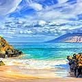 Private Beach At Wailea Maui by Dominic Piperata