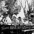 Pro-viet Nam War March Beaver's Band Box Musicians Tucson Arizona 1970 Black And White by David Lee Guss