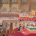 Procession Of The Dean And Prebendaries Of Westminster Bearing The Regalia, From An Album by Charles Wild