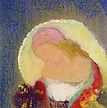 Profile Of A Girl With Flowers by Odilon Redon