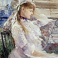 Profile Of A Seated Young Woman by Berthe Morisot