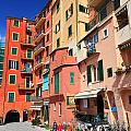 promenade and homes in Camogli by Antonio Scarpi