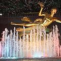 Prometheus Greek Statue In Rockefeller Ice Rink by John Telfer