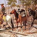 Prospecting For Cattle Range by Frederic Remington