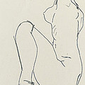 Prostrate Female Nude by Egon Schiele