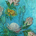 Protea Flower Study I by Xueling Zou