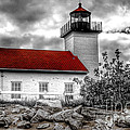 Protector Of The Harbor - Sand Point Lighthouse by Nikki Vig
