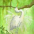 Proud Egret by Kathy Przepadlo