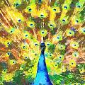 Proud Peacock by Lynne Jenkins