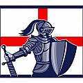 Proud To Be English Happy St George Day Card by Aloysius Patrimonio