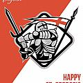 Proud To Be English Happy St George Greeting Card by Aloysius Patrimonio