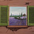 Provence Lavander Fields Original Acrylic by Georgeta Blanaru