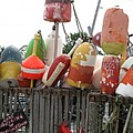 Provencetown Lobster Buoys by Barbara McDevitt