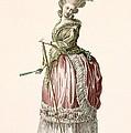 Provencial Style Ladys Walking Gown by Claude Louis Desrais