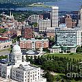 Providence Rhode Island Downtown Skyline Aerial by Bill Cobb