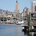 Providence River And Point St Bridge by Bill Cobb