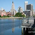Providence Skyline And Riverfront by Bill Cobb