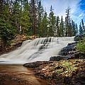 Provo River Falls 2 by Gina Herbert