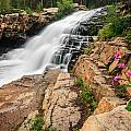 Provo River Falls 3 by Gina Herbert