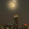 Prudential Tower With Supermoon 2013 by Jatinkumar Thakkar