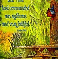 Psalm 119 138 by Michelle Greene Wheeler