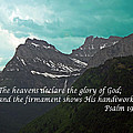 Psalm 19 1 On The Rocky Mountains by Barb Dalton