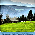 Psalm 23 The Lord Is My Shepherd ... He Maketh Me Lie Down In Green Pastures by The Creative Minds Art and Photography