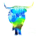 Psychedelic Bovine #2 by Pixel  Chimp