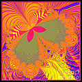 Psychedelic Butterfly Explosion Fractal 61 by Rose Santuci-Sofranko