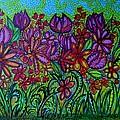 Psychedelic  Flower Garden by Gerri Rowan