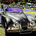 Psychedelic Jaguar Xk120 Classic Car 1 by Peter Lloyd