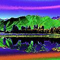 Psychedelic Lake Matheson Ner Zealand 3 by Peter Lloyd