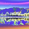 Psychedelic Lake Matheson New Zealand 2 by Peter Lloyd